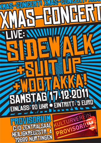 sidewalk, suit up, wootakka live@provisurium in nürtingen